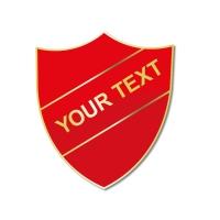 Personalised Enamel Shield Badge: Red