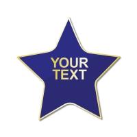 Personalised Enamel Star Badge: Blue