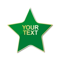 Personalised Enamel Star Badge: Green