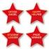 Personalised Enamel Star Badge: Red