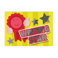 Postcard: Writing Star - Sparkling