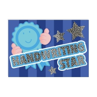Postcard: Handwriting Star - Sparkling