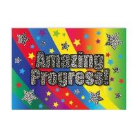 Postcard: Amazing Progress - Sparkling