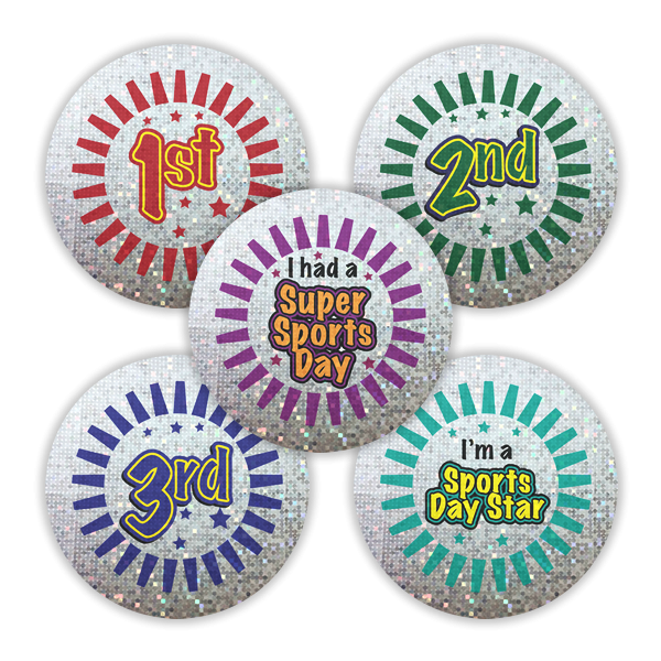 Sticker: Sparkling 1st, 2nd, 3rd And Sports Day Star Variety Pack
