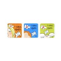 Sticker: Square Stickers - SuperKids Achieve 1