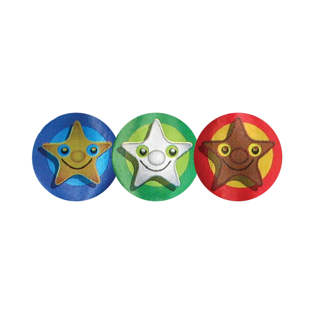 Sticker: Foil - Star Faces