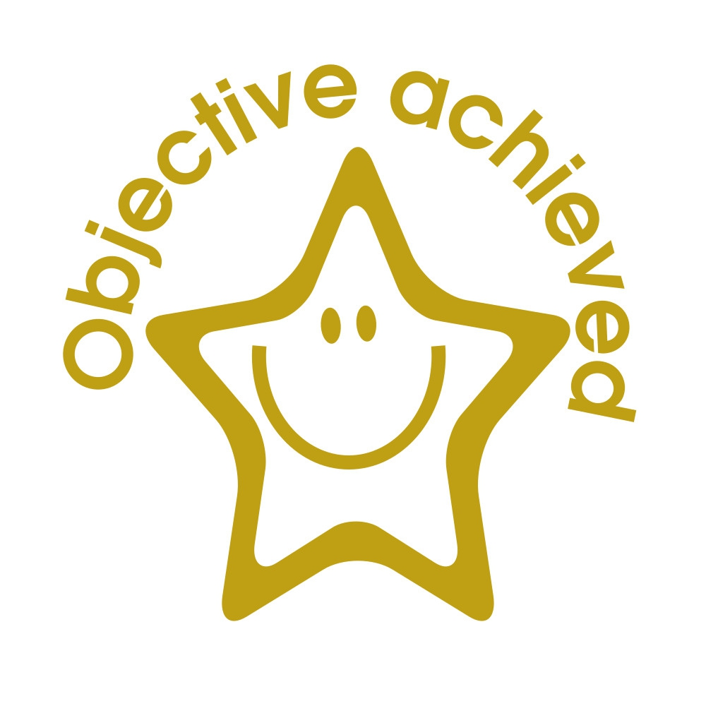 Stamper: Objective Achieved - Smiling Star - Gold