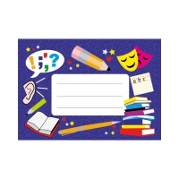Exercise Book Labels: English