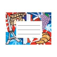 Exercise Book Labels: French