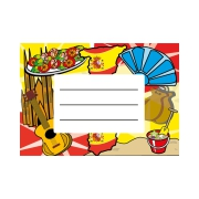 Exercise Book Labels: Spanish