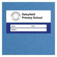 Personalised Exercise Book Label: Dark Blue