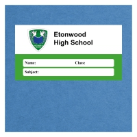 Personalised Exercise Book Label: Green