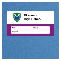 Personalised Exercise Book Label: Purple