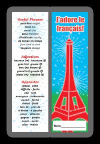 Bookmark: J`adore Le Français