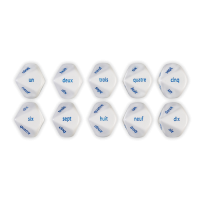 Games: French Number Dice (Set of 6)