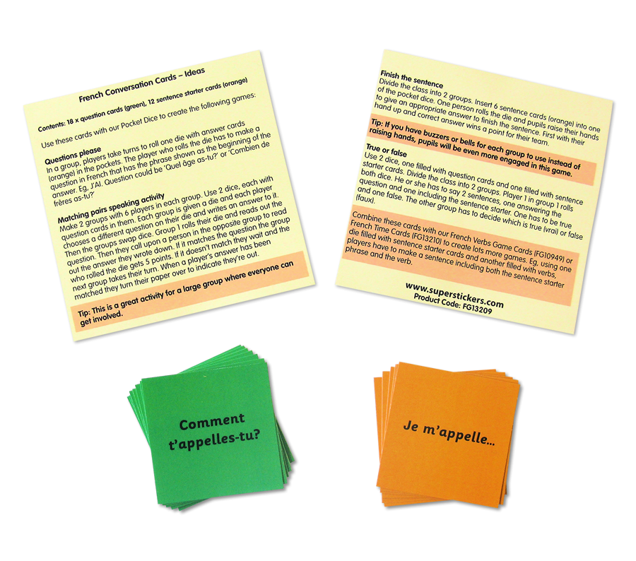 Games: French Conversation Cards