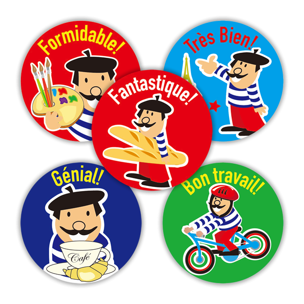 Sticker: French Character Variety Sheet