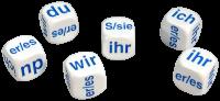 Games: Set of 6 German Pronoun Dice