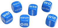 Games: Set of 6 German Question Dice