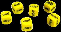 Games: Set of 6 German Conjunctions Dice