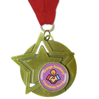 Personalised Medal: Star - Gold 60mm