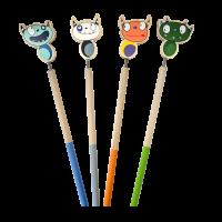 Wooden Monster Topper Pencils