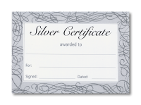 Certificate: Silver Foil