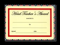 Certificate: Headteacher