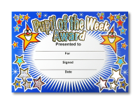 Certificate: Pupil Of The Week - Sparkling