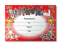 Certificate: Star Pupil Award - Sparkling Red