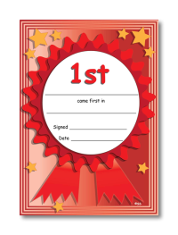 Certificate: 1st Place