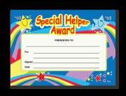 Certificate: Special Helper Award