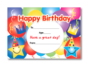 Certificate: Happy Birthday