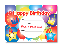 Certificate: Happy Birthday