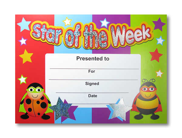 Certificate: Star of the Week - Sparkling