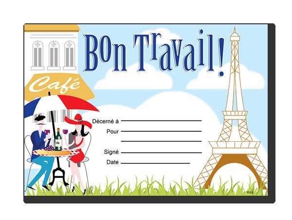 Certificate: Bon Travail