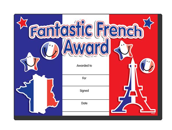 Certificate: Fantastic French Award