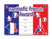 Certificate: Fantastic French Award
