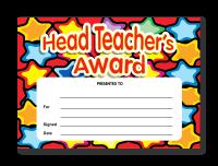 Certificate: Head Teacher`s Award Stars