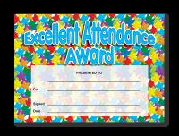 Certificate: Excellent Attendance Award