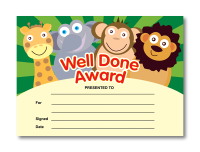 Certificate: Well Done Award - Animals