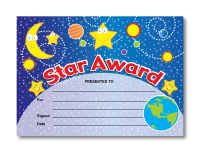 Certificate: Star Award - Out of the World