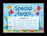 Certificate: Special Award - Under water