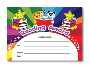 Certificate: Reading Award- rainbow readers