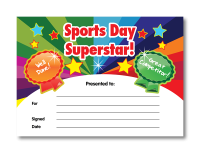 Certificate: Sports Day Superstar