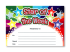 Certificate: Star Of The Week Rainbow - Sparkling