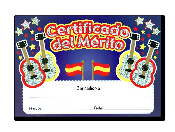 Certificate: Certifcado Del Merito Guitars - Sparkling