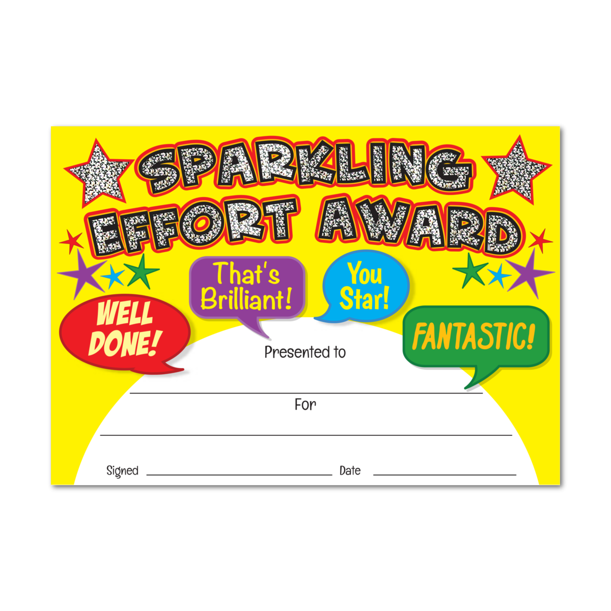 Certificate: Sparkling Effort Award - Sparkling