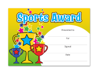 Certificate: Sports Award