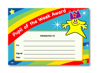 Certificate: Pupil of the Week Award